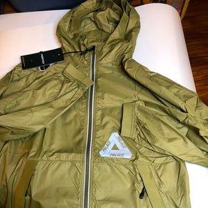 Palace Pertex Mens Small Windbreaker Jacket Olive